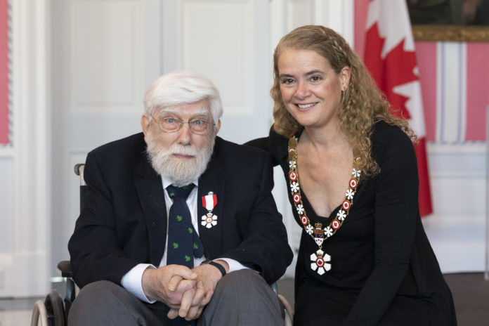Francis Cook, Order of Canada, with Governor General Julie Payette