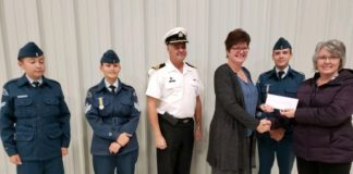 Julie Roddick and Annemarie Laroque with Cadets