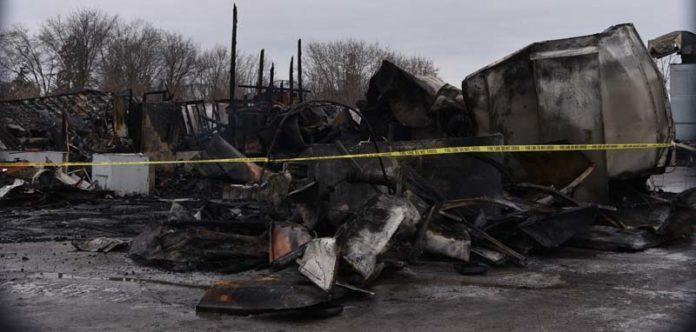 Commercial Auto Shop Structure Fire